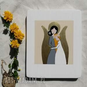 pracownia na deskach anioł stróż dla dziewczynki pamiątka komunijna - no 4