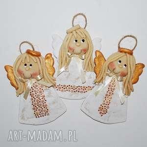 anioły świąteczne - uroczyście, anioł, dekoracja, prezent, z masy solnej