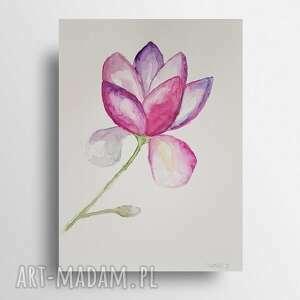 magnolia-akwarela formatu
