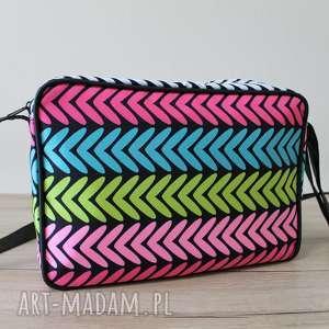 single bag - kolorowe zygzaki, elegancka, wieczorowa, prezent, święta, wesele