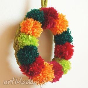 handmade prezent pod choinkę wieniec świąteczny