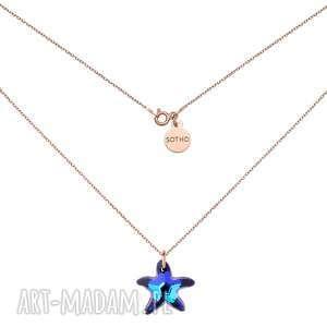 ręcznie robione naszyjniki naszyjnik z różowego złota z rozgwiazdą swarovski® crystal