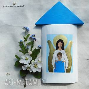 ręcznie robione dekoracje obrazek na pamiątkę pierwszej komunii świętej dla chłopca