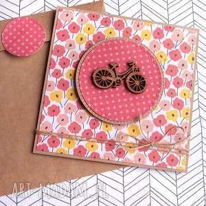 ręcznie robione kartki rower lover: kartka handmade