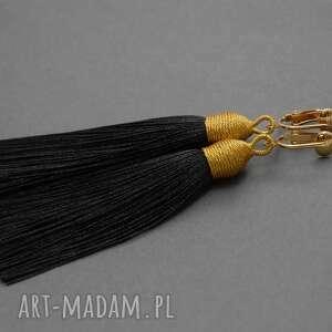 Klipsy z chwostami sisu sznurek, wiszące, długie,