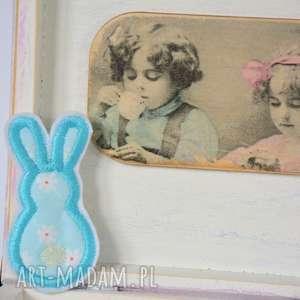 broszka - króliczek 3 - broszka, królik, aplikacja, filc, bawełna, przypinka