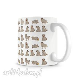 kubek - mopsowy zawrót głow, kubek, kawa, prezent, mops, pies