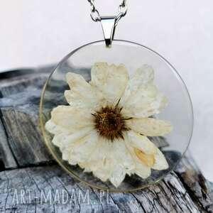 naszyjnik z prawdziwymi kwiatami zatopionymi w żywicy z186, kwiaty