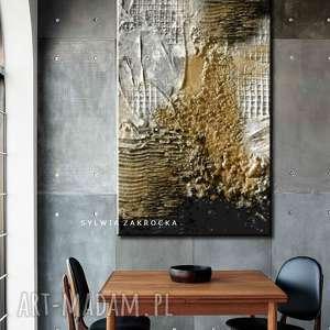 burza piaskowa - abstrakcyjne obrazy do modnego salonu, piaskowa, obraz