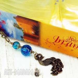 zakładka do książki-paw i klejnoty, paw, zakładka, metalowa, prezent, stare, złoto