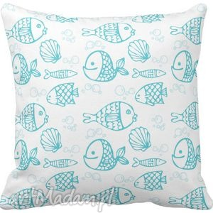 handmade pokoik dziecka poszewka na poduszkę dziecięca rybki 3070