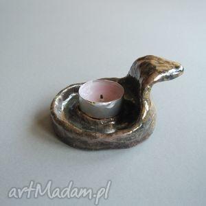 świecznik tygielek , świecznik, dekoracje, wnetrze, ceramika, elegancki, handmade