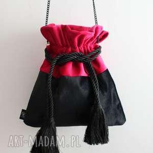 na ramię bbag pouch duo torebka aksamitna, aksamitny, welurowy, zamszowy, worek