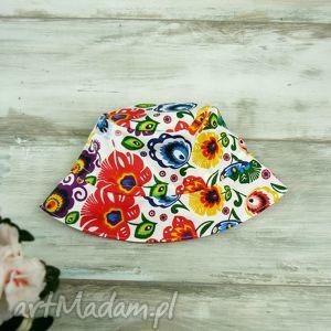 kapelusz dla dziecka kwiaty - bawełna, dziewczynka, lato