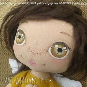 SZAROTKA ANIOŁEK lalka - dekoracja tekstylna, OOAK