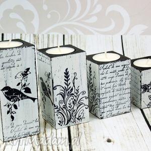 Komplet 4 świeczników - birds świeczniki shiraja świeczniki