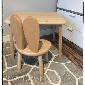 pokoik dziecka stolik i krzesełko dla dzieci, stolik, drewniany