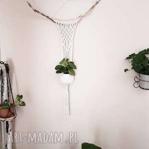 makrama - kwietnik, makrama, wiszące, kwiaty, ściana, skandynawski dom