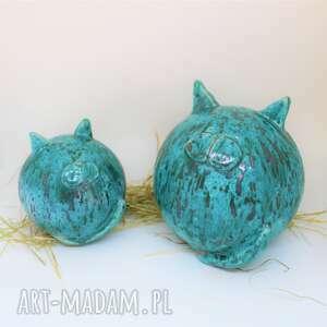 koty zestaw dużyi mały kule ceramiczne na prezent obw 45 cm i 30cm