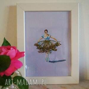 aksinicoffeepainting koperkowa tanecznica - mini akwarela z - prawdziwa roślina