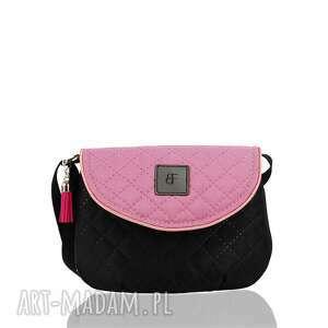 ręcznie robione dla dziecka torebka dla dziewczynki 244 sweet love czarno-różowa