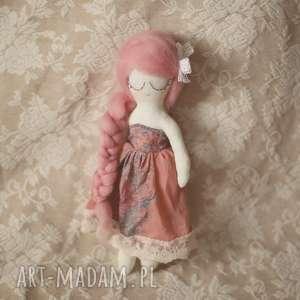 Wiosenna Bajka - Landrynkowa Wróżka, lalka, kwiatuszki, sukienka, różana