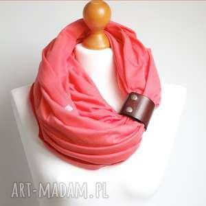 Jesienny komin tuba bawełniany z zapinką, modny szal damski