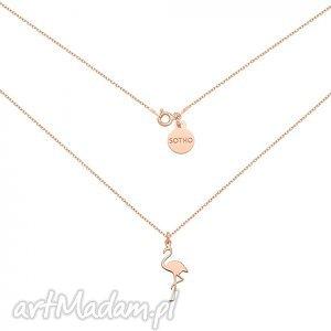 hand-made naszyjniki naszyjnik z flamingiem z różowego złota
