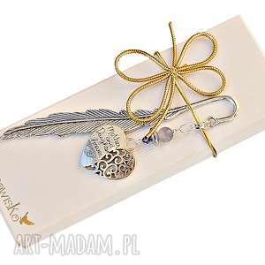 zakładki prezent dla mamy od córki - piękna zakładka ze swarovskim, zakładka
