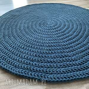 dywan ze sznurka bawełnianego 100 cm szydełko, dywan, do domu