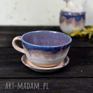 ręcznie robione ceramika filiżanki klasyczna 1 szt | do kawy herbaty beżowo-szary 350