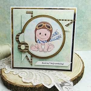 Prezent Kartka urodzinowa dla maluszka, scrapbooking, urodziny, imieniny
