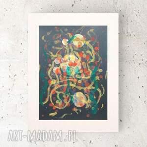 abstrakcyjna grafika do domu, nowoczesny rysunek na ścianę, abstrakcja biura, obrazek
