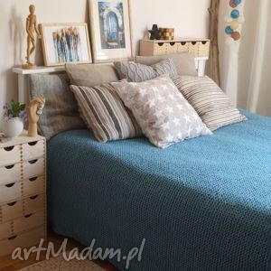 klasyczna narzuta - na zamówienie - koc, narzuta, pled, sypialnia, dziergana