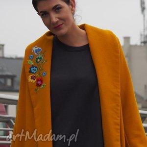 plishka płaszcz - plaszczoversize, plaszczfolk, streetstale, modernfolk, haftreczny