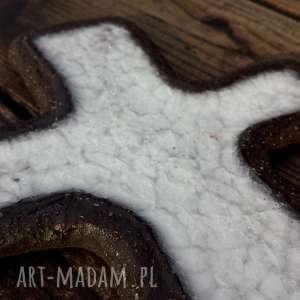 Krzyżyk na ścianę ceramika i szkło 4, krzyż, krzyżyk, ceramika, szkło, fusing