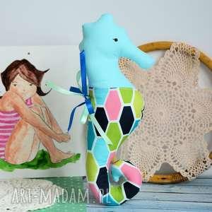 ręcznie robione maskotki konik morski (turkus ) - 25