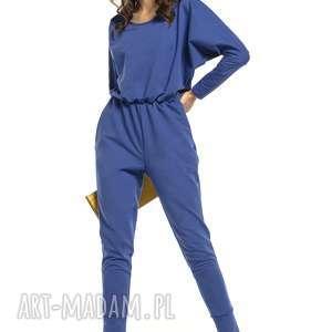ręcznie robione spodnie stylowy kombinezon z rozcięciem na plecach, t301