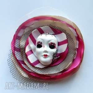 Prezent Broszka z Kolekcji Masquerade - Diva, diva, broszka, maska, wenecka, kwiat,
