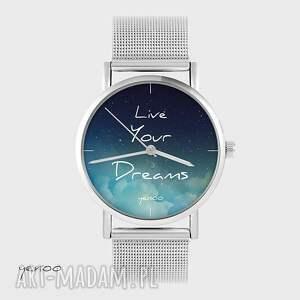 zegarki zegarek, bransoletka - live your dreams metalowy