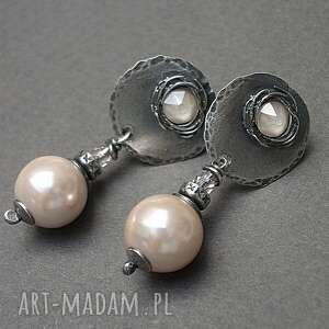 nude pearls - kolczyki