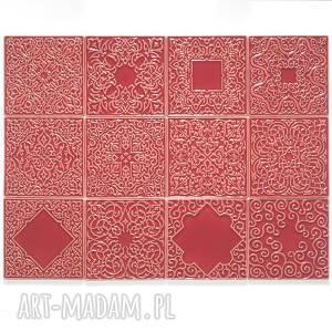 kafle malinowe, dwanaście ornamentów, kafle, dekory, ornament, marokańskie