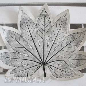 dekoracyjna patera liść, ceramiczna, patera, ceramiczny, artystyczna, roślinna