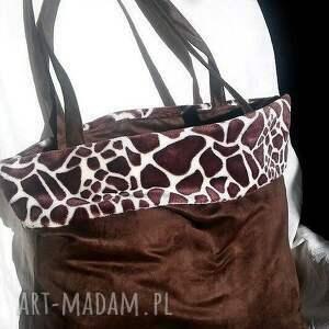 Torba Żyrafa , torba, żyrafa, minky, modna, ircha