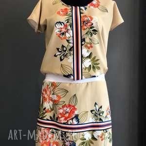 folkowa sukienka na wiosnę, mini, folk sukienka, wiosenna boho