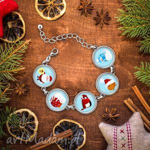 laluv bransoletka świąteczny czas, ptak, pingwin, mikołaj, mikołajki, prezent, kot