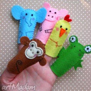 zwierzaczki-pacynki, pacynki, zabawki, dziecko, zwierzątka, zabawa, filc, prezent na