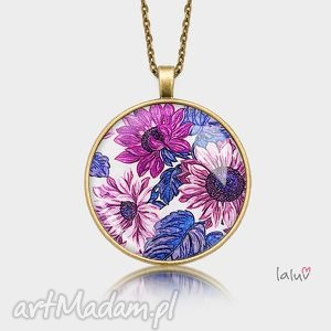 medalion okrągły kwiatowy - kwiat, kwiaty, wiosna, natura, piękne, grafika