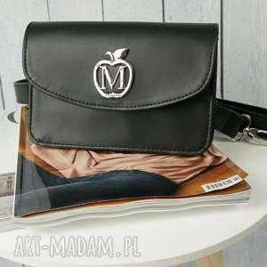 Prezent MANZANA elegancka kopertówka nerka portfel 3w1 CZARNA, torebka,