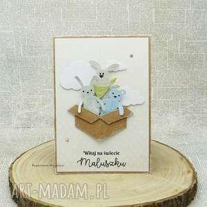 handmade scrapbooking kartki witaj na świecie - kartka dla maluszka